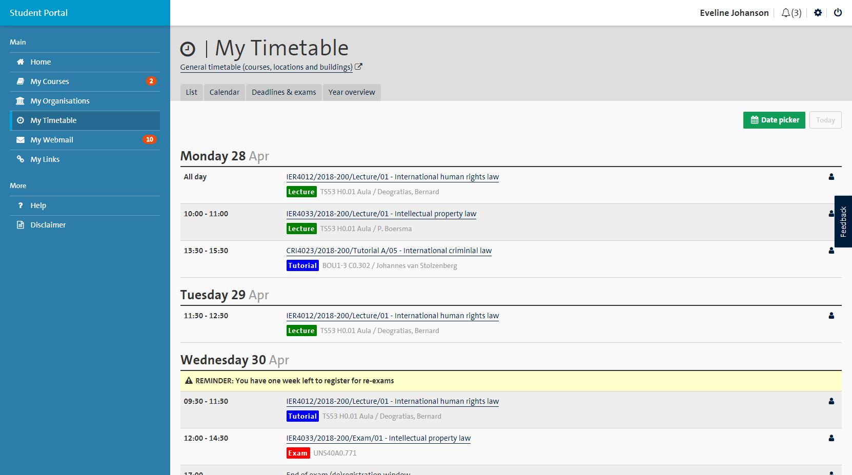 Ucm Academic Calendar.Instructions Student Portal Maastricht University
